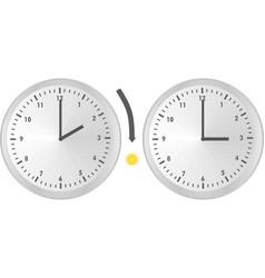 clock change vector image
