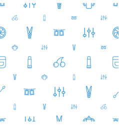closeup icons pattern seamless white background vector image