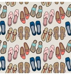Clothes and shoes pattern doodle vector image vector image