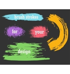 Colorful watercolor brush strokes vector image vector image