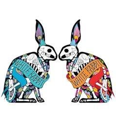 Colorfull rabbits vector