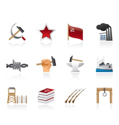 communism and revolution icons vector image