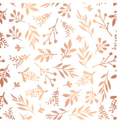 Copper foil florals seamless background vector