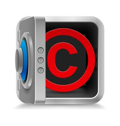 Copyright protection vector image
