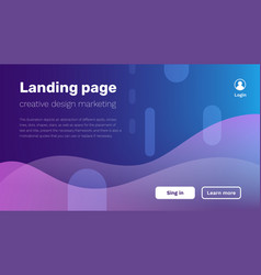 creative of business minimal landing page vector image
