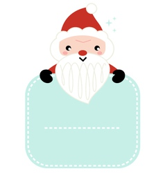Cute cartoon Santa holding blank banner vector image