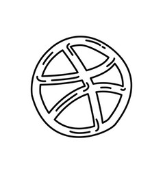 dribbble icon doodle hand drawn or black outline vector image