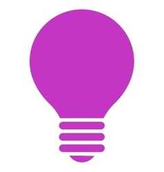 Electric Bulb flat violet color icon vector image