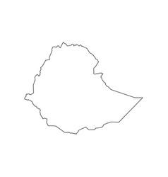 ethiopia map silhouette vector image