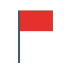 flag pointer isolated icon vector image