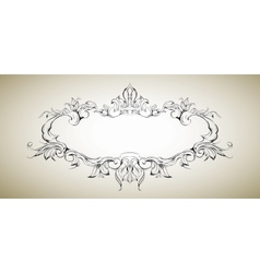 frame with floral elements for registration 5 vector image