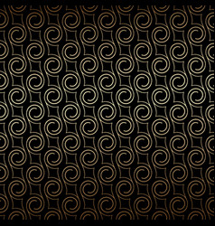 Golden art deco seamless pattern with swirls vector