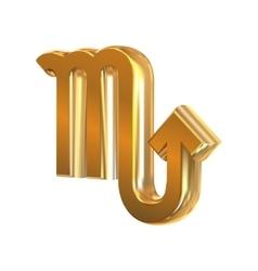 Golden zodiac sign Scorpius vector