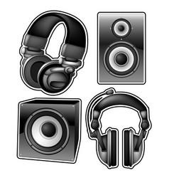Headphones and speakers vector