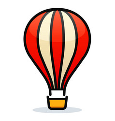 hot air balloon design vector image