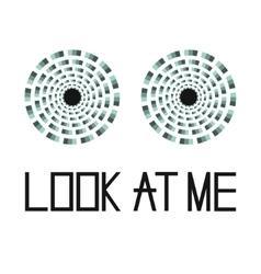 hypnotic eyes look at me vector image