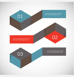 Infographic arrows with 3 step up options and vector