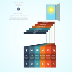 Infographic template steps 6 vector
