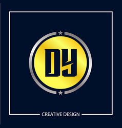 Initial letter dy logo template design vector