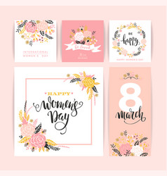 International womens day templates with vector