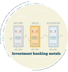 Investment banking metals in line art style vector