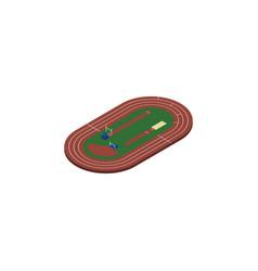 Isolated running field isometric run stadium vector