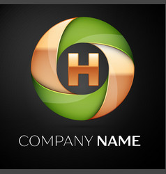 letter h logo symbol in the colorful triangle on vector image