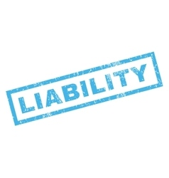 Liability Rubber Stamp vector