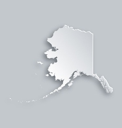 Map of Alaska vector