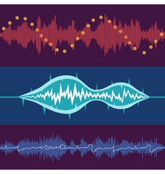 music volume abstract background set vector image