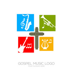 Musical instruments for service god vector