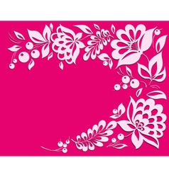 Pink background with a floral frame vector