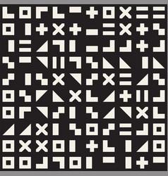 Random shapes seamless pattern modern vector