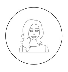 readhead woman icon in outline style isolated on vector image