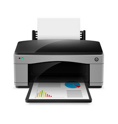 Realistic printer on white background for design vector