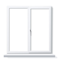 realistic pvc window white blank mockup vector image