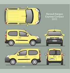 Renault kangoo express compact combi van 2013 vector