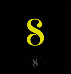 S o monogram combined letters beautiful classic vector