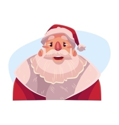 Santa Claus face wow facial expression vector