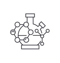 scientific research line icon concept scientific vector image