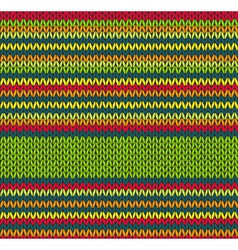 Seamless Red Green Yellow Color Knitted Pattern vector