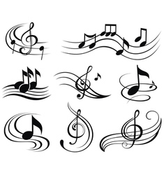Set of music design elements or icons vector image