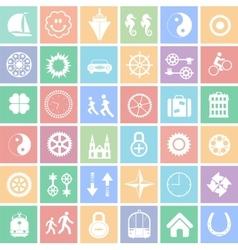 set web icons vector image
