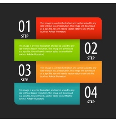 Simple modern infographics options banner box vector
