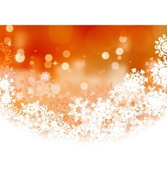 Snowflake orange Christmas holiday EPS 8 vector