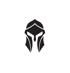spartan helmet black and white logo vector image