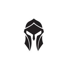 spartan helmet black and white logo vector image