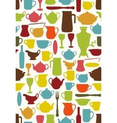 Tableware seamless vector image