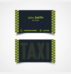 taxi driver card template vector image