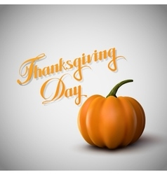 Thanksgiving Day Holiday vector image